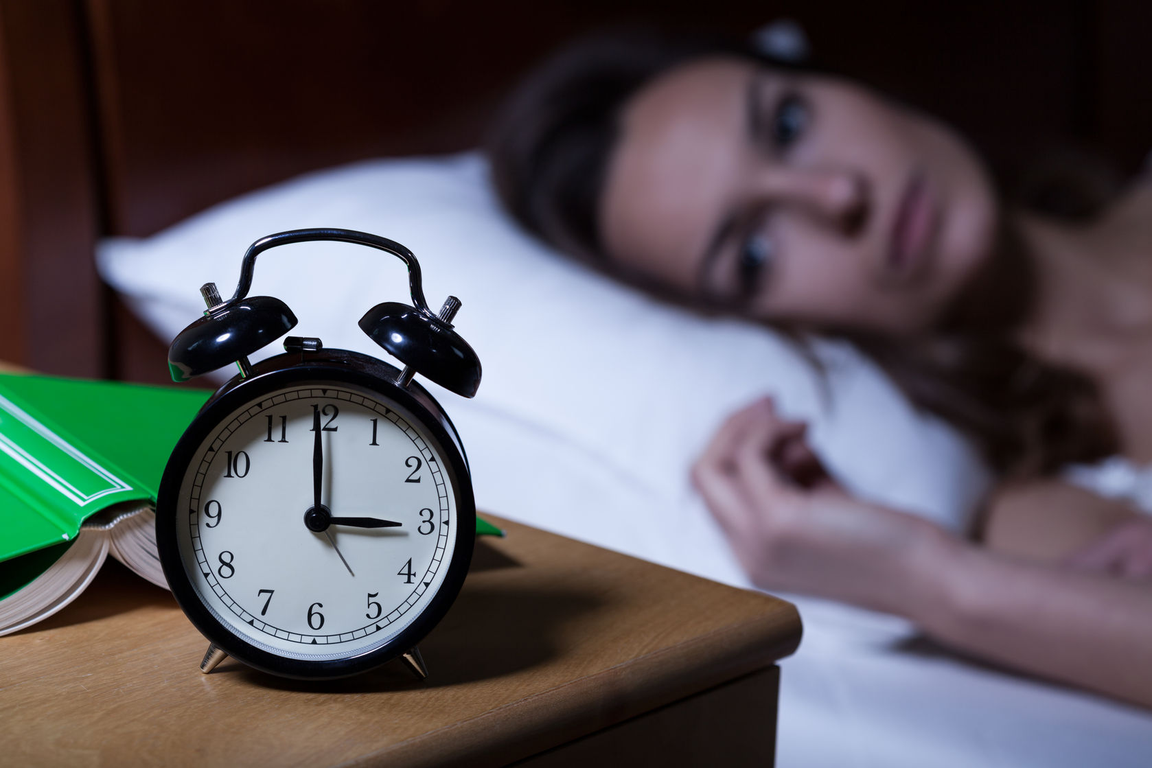 Woman suffering insomnia