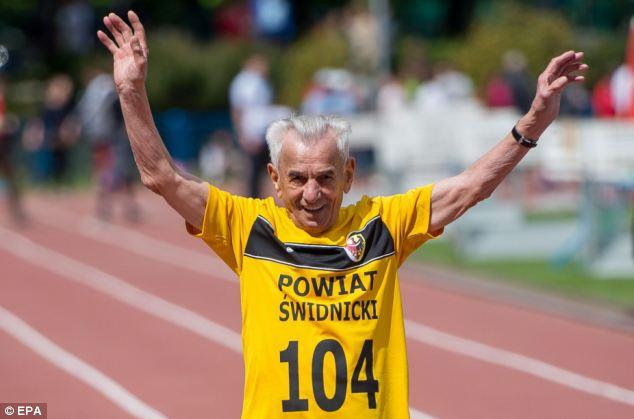 senior running man
