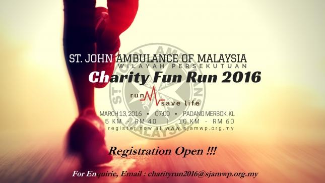 St. John Ambulance of Malaysia Wilayah Persekutuan (SJAMWP) Charity Fun Run 2016
