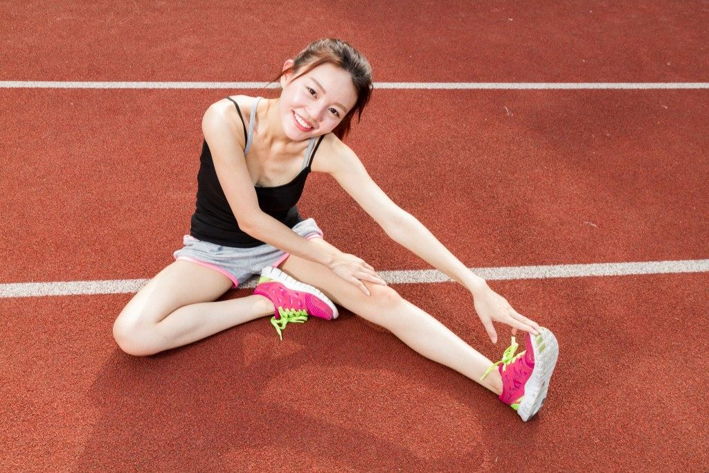 asian girl stretching