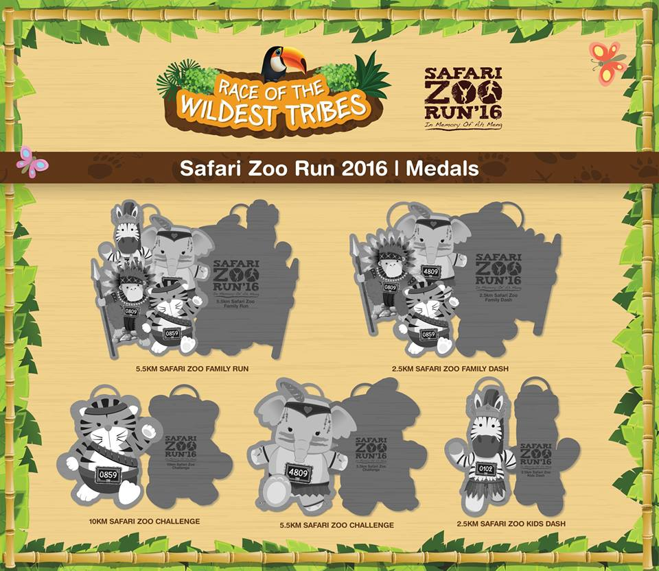 safari zoo run medals