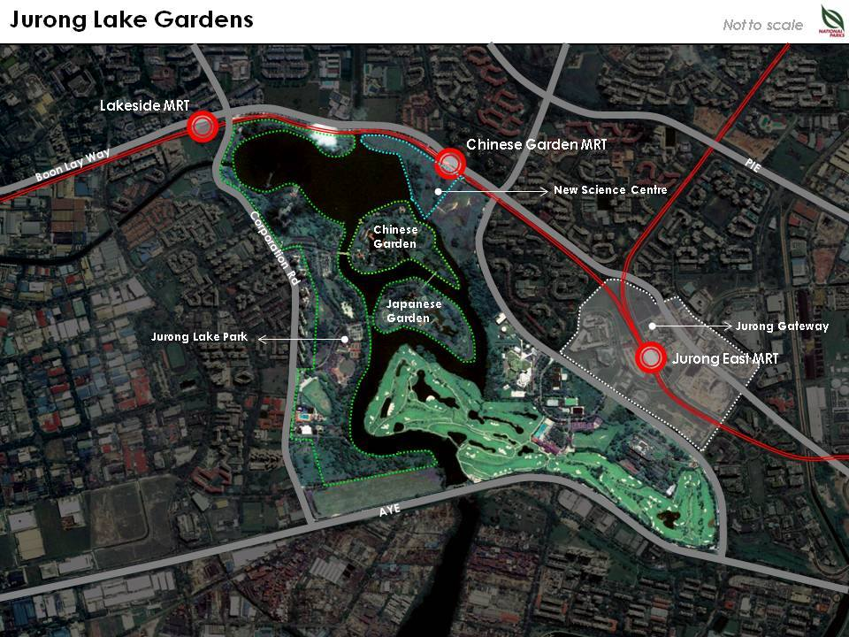 jurong lake gardens map
