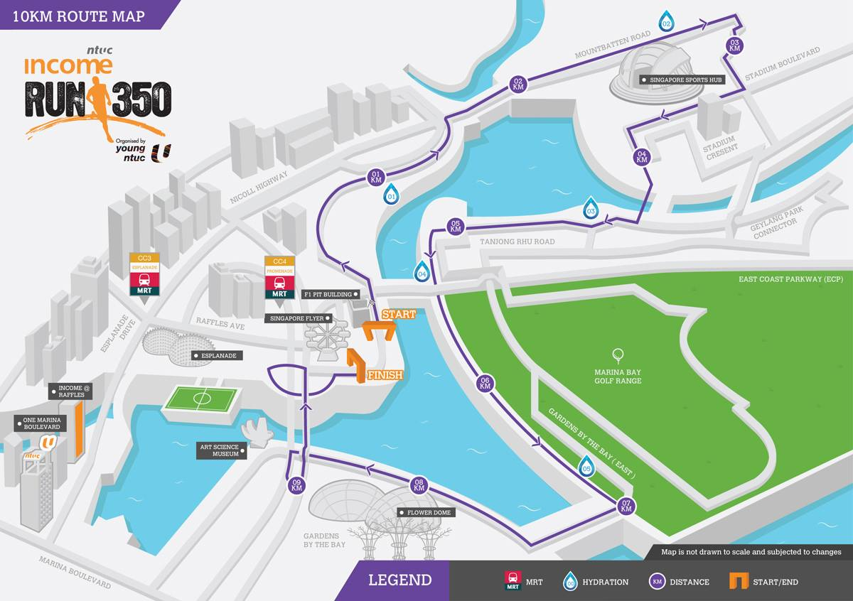 The 10km Route. Credit to Run350's Facebook Page.