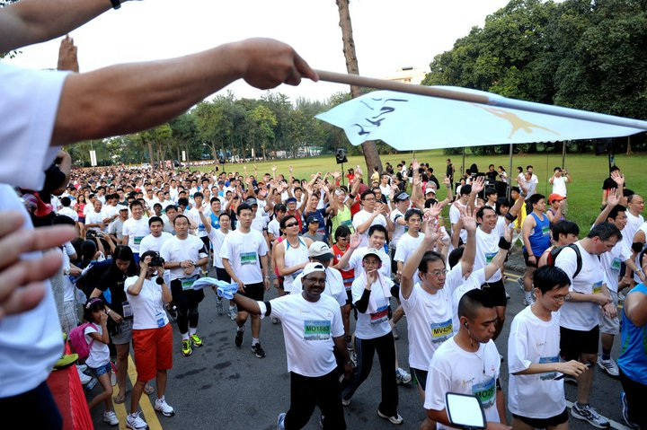 participants jurong lake run 2011