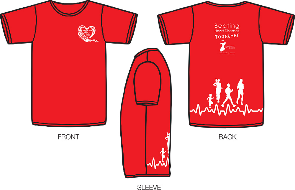 Heart Walk T Shirt Designs | Pledge Your Heart Walk 2016 Justrunlah
