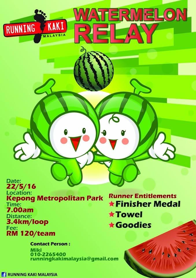 Running Kaki Watermelon Relay 2016