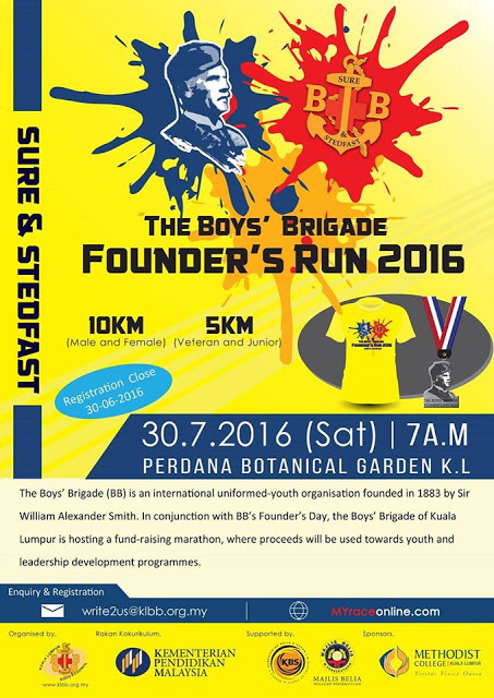 The Boys' Brigade Founder's Run 2016