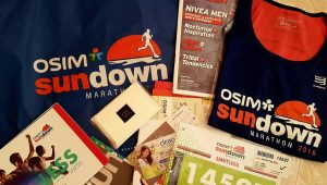 Items in the OSIM Sundown Marathon'16 racepack