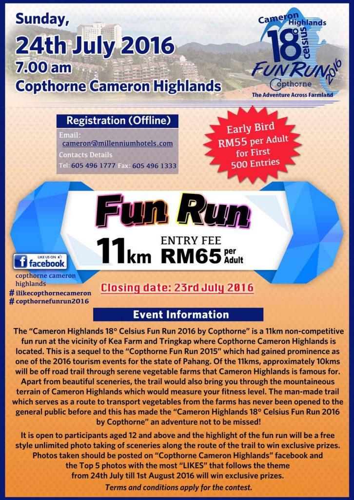 Cameron Highlands 18° Celsius Fun Run 2016