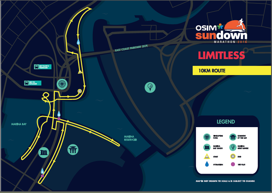 You turn, and u-turn and U-turn...and you turn again (and again). Credit to Sundown Marathon's Race Guide.