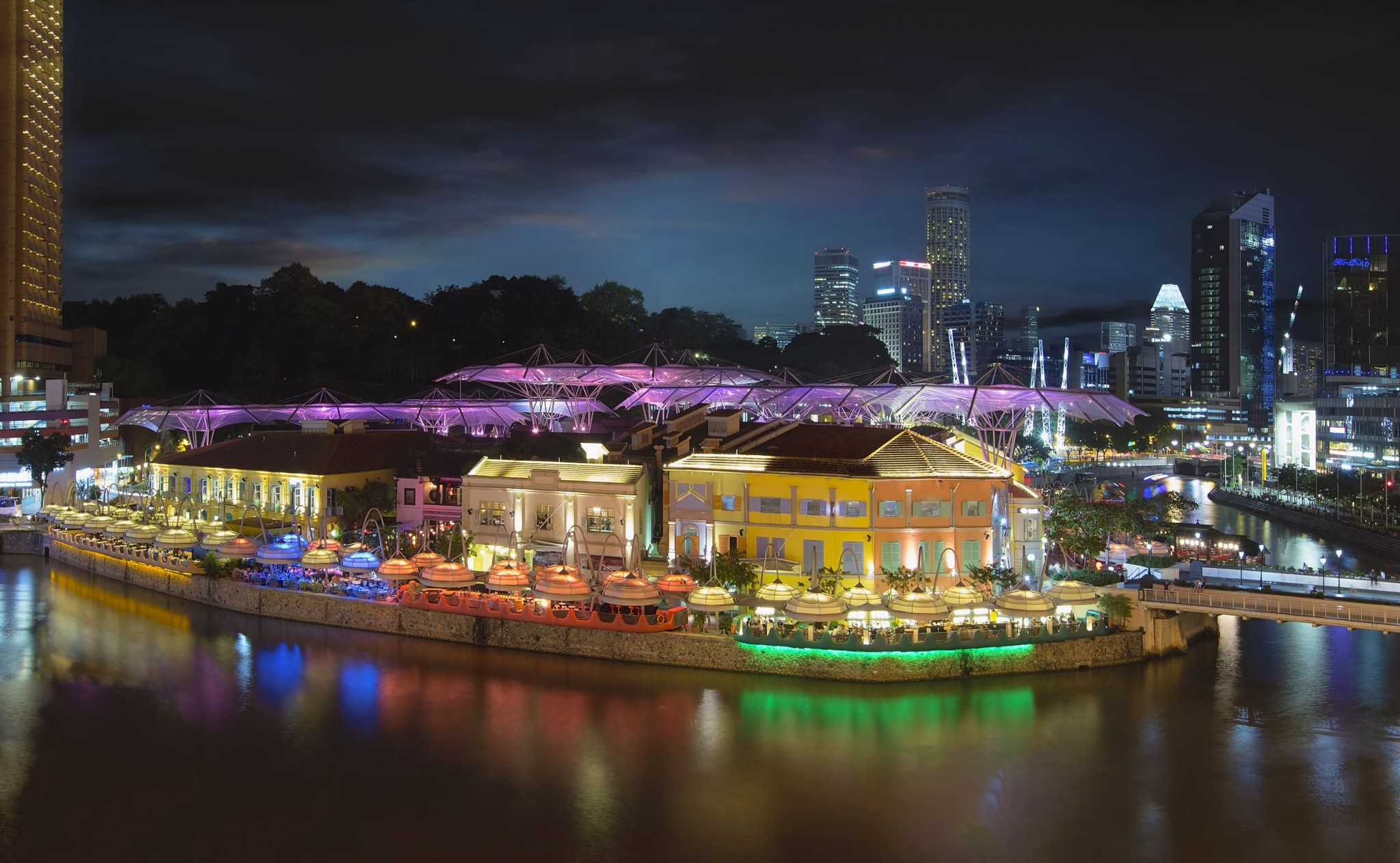 Clarke Quay Along Singapore River