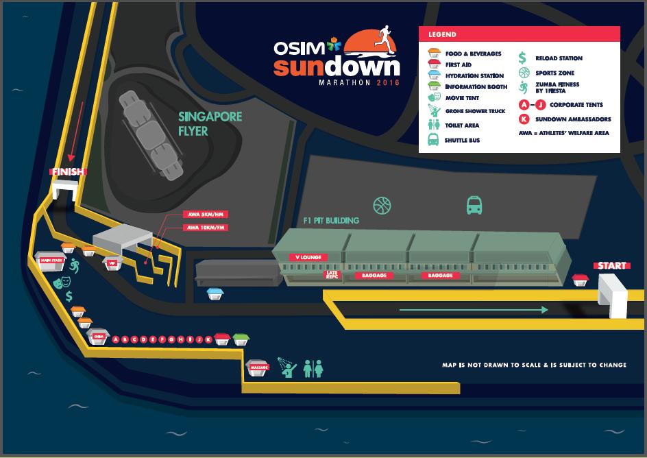The Race Precinct. Credit to Sundown Marathon's Race Guide.