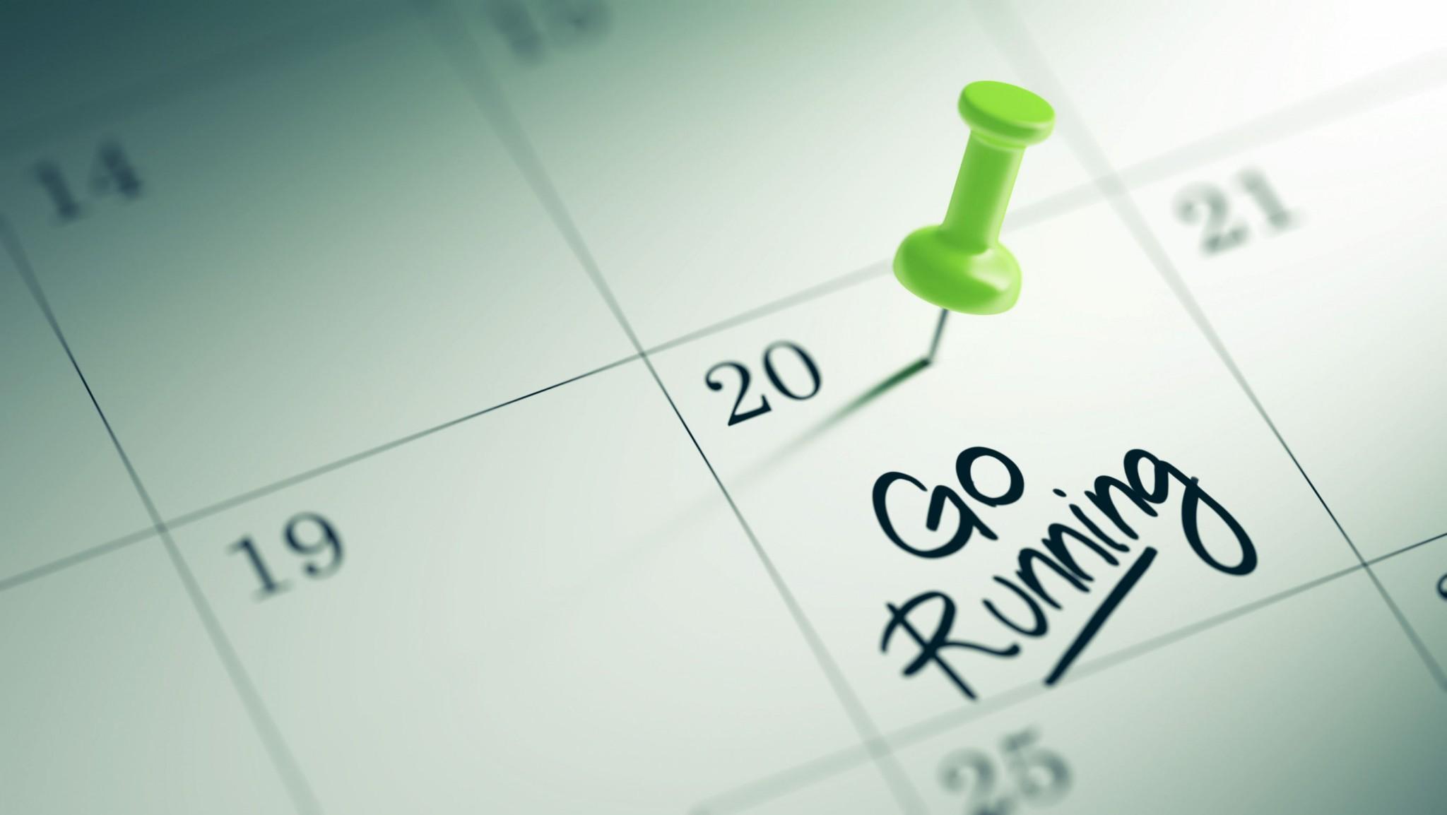 plan go running calendar