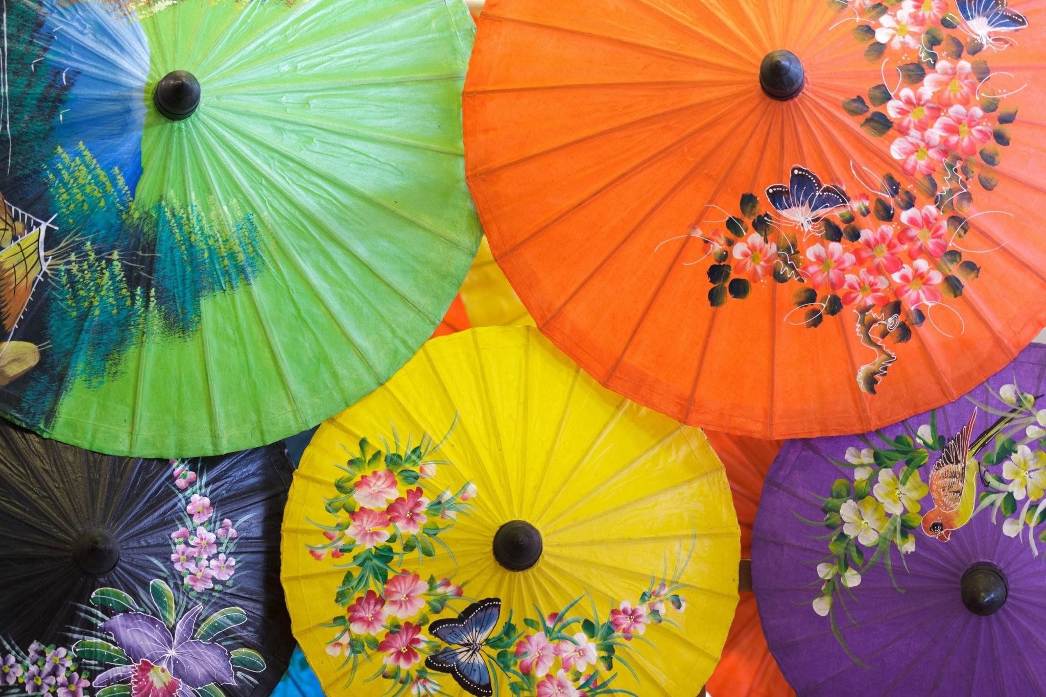thai umbrella in Chiang Mai