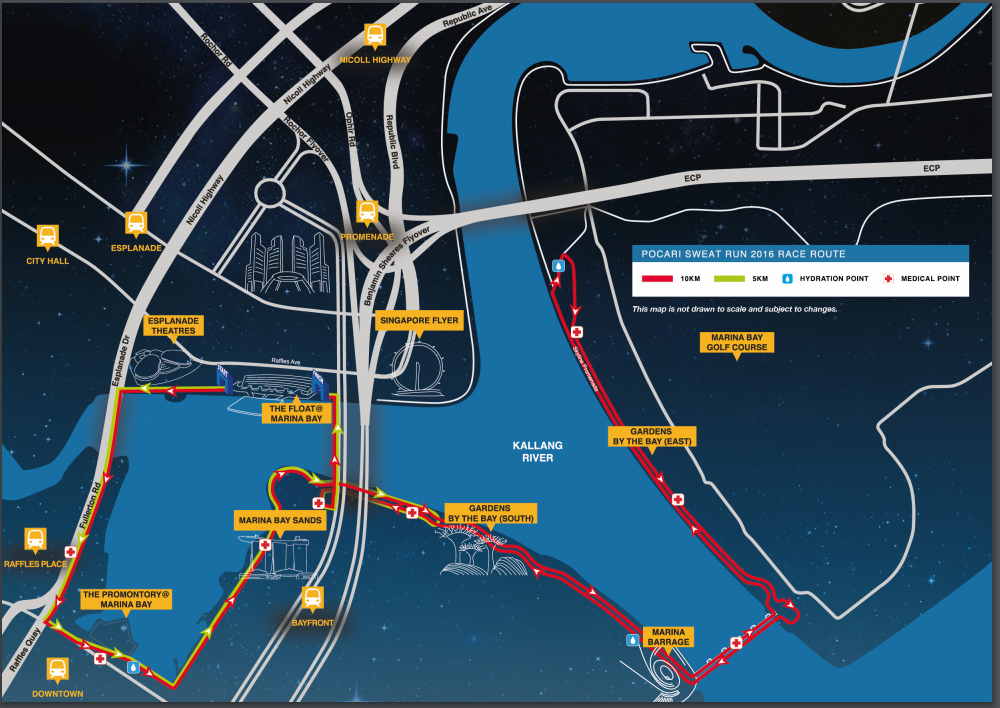 The Race Route. Credit to Pocari Sweat Run's Race Booklet.