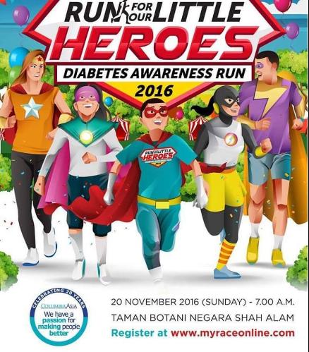 Run For Our Little Heroes Diabetes Awareness Run 2016