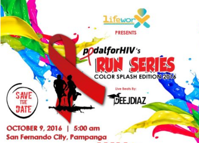 Pedal for HIV's Run Series: Color Splash Edition 2016