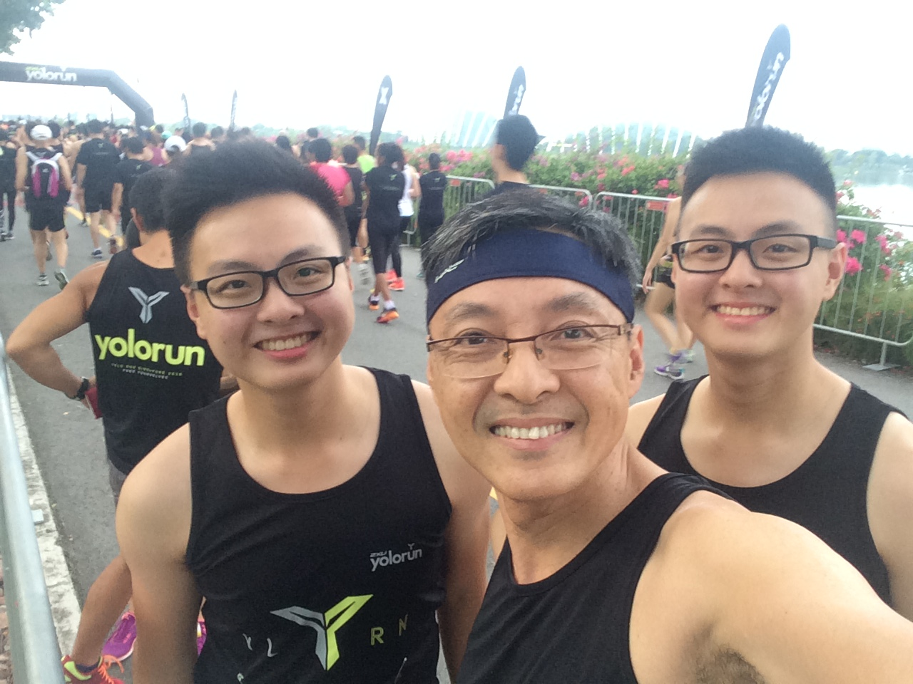 A Wefie before the Race