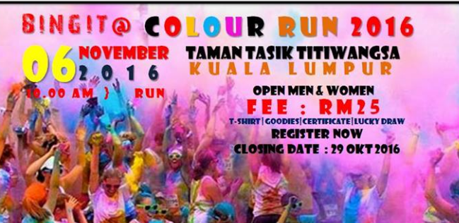 Bingit @ Colour Run 2016