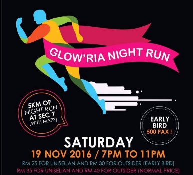 Glow'ria Night Run 2016
