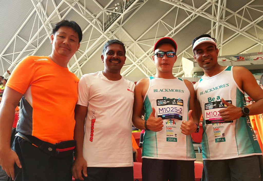 Fresh from Blackmores Sydney marathon, I and my Mizuno CBD buddies took part in the Asics Relay.