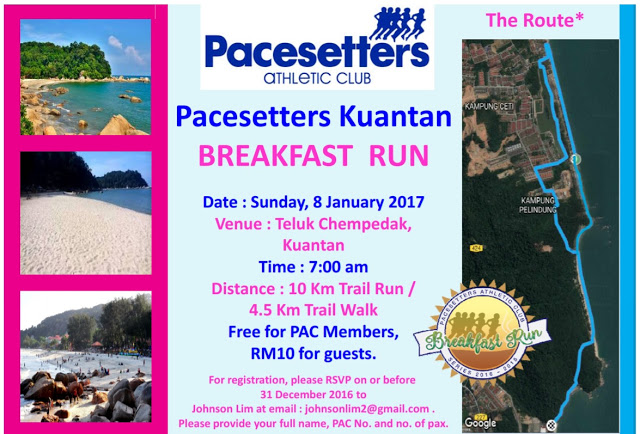 Pacesetters Kuantan Breakfast Run 2017