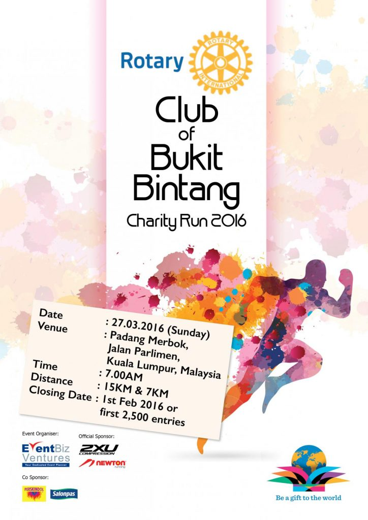 RCBB Rotary Club of Bukit Bintang Charity Run 2017