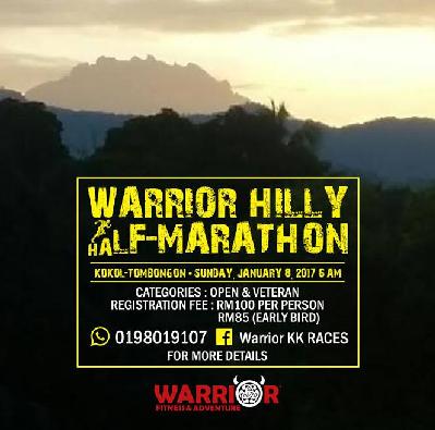 Warrior Hilly Half Marathon 2017