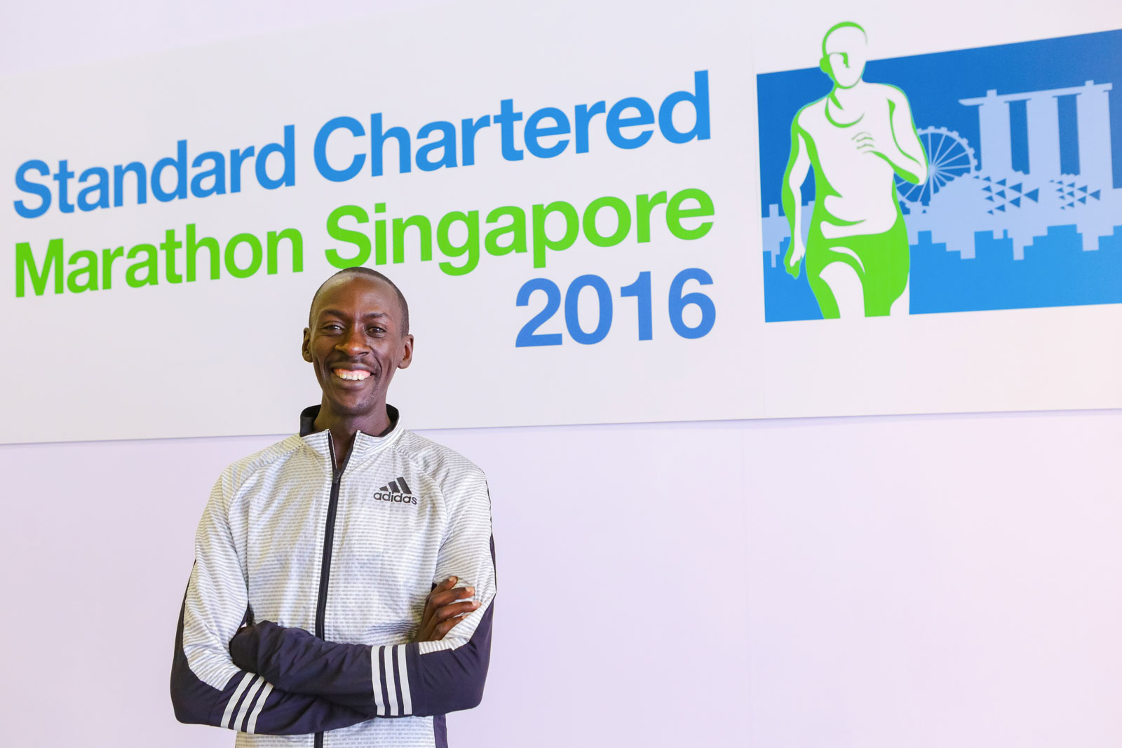 A very confident Kenneth Mungara Gunning for his Third Title. Photo credit: Standard Chartered Marathon Singapore
