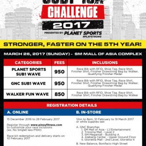 Pinoy Fitness SUB1 10K Challenge 2017
