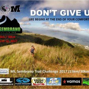 Mt. Sembrano Mountain Trail Run 2017
