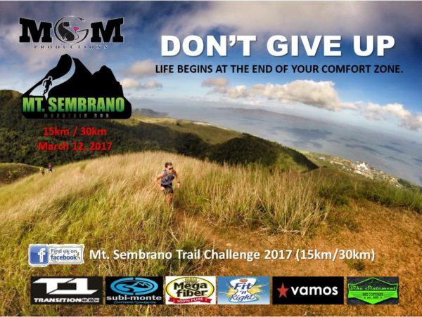 Mt. Sembrano Mountain Trail Run 2017