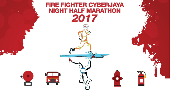 Fire Fighter Cyberjaya Night Half Marathon 2017