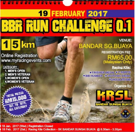 KRSL SRCC Bandar Sungai Buaya Eco Challenge 2017