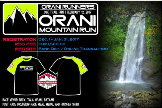 Orani Mountain Run 2017 30K (Bataan)