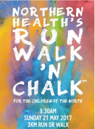 Northern Health's Run Walk 'n Chalk 2017