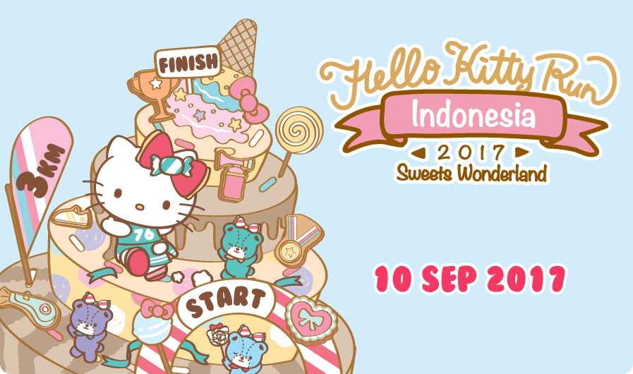 Hello Kitty Run Indonesia 2017: Sweets Wonderland