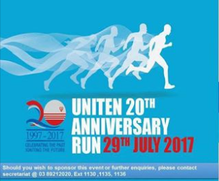 UNITEN 20th Anniversary Run 2017