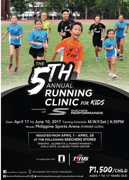 5th Annual Running Clinic for Kids 2017