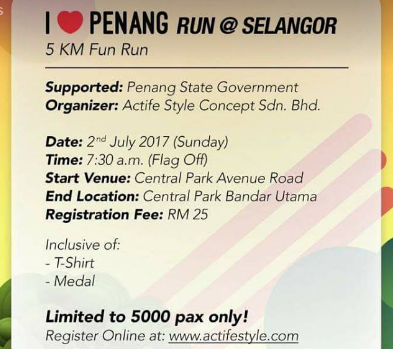 I Love Penang Run @ Selangor 2017
