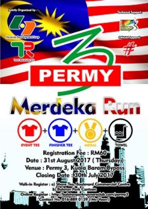 Permy 3 Merdeka Run 2017
