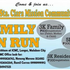 Sta. Clara Quasi Parish Fun Run 2017
