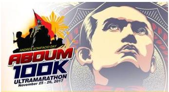 Andres Bonifacio Day 100K Ultra Marathon 2017