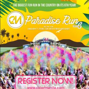 COLOR Manila RUN 6 (CMR6) Paradise Run 2018