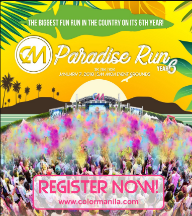 COLOR Manila RUN 6 (CMR6) Paradise Run 2018