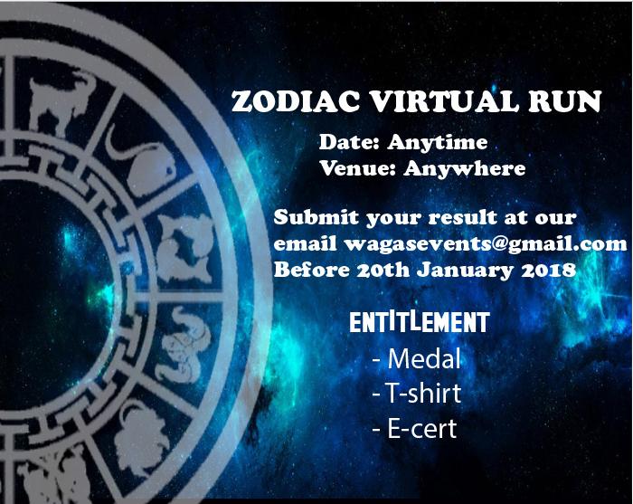 Zodiac Virtual Run 2018