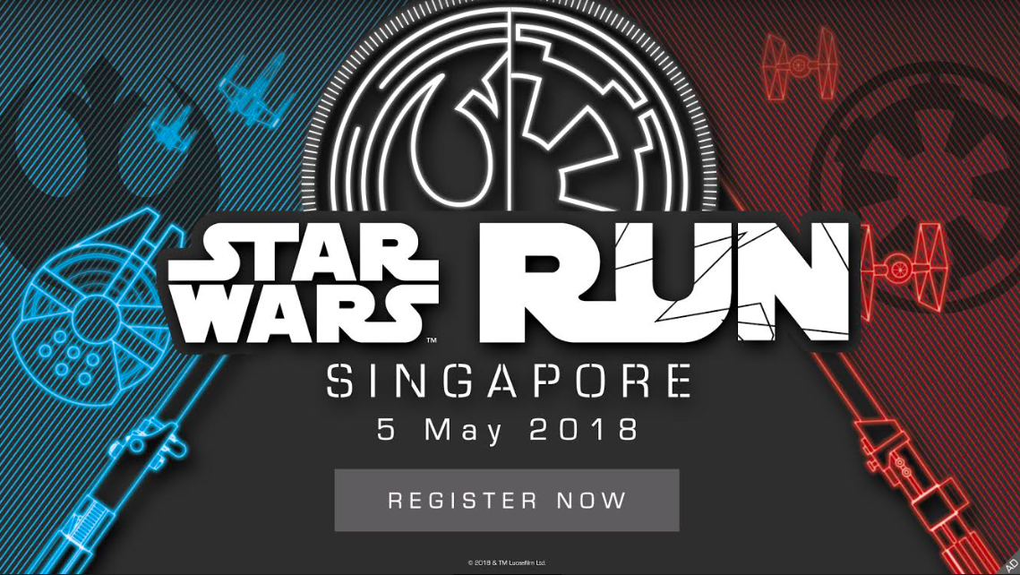 Star Wars Run Singapore 2018 Early Bird Registration Officially