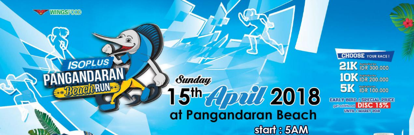 Isoplus Pangandaran Beach Run 2018