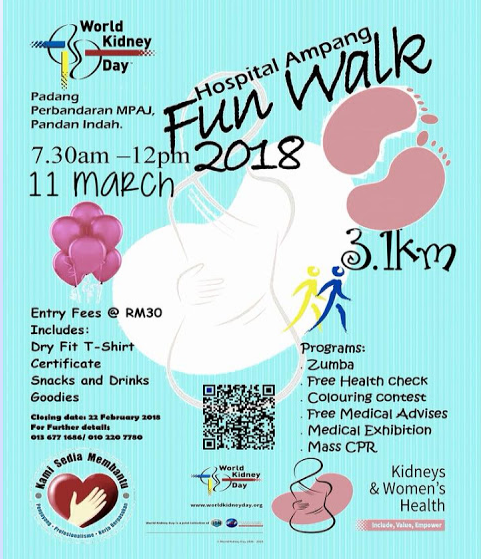 Hospital Ampang Fun Walk 2018