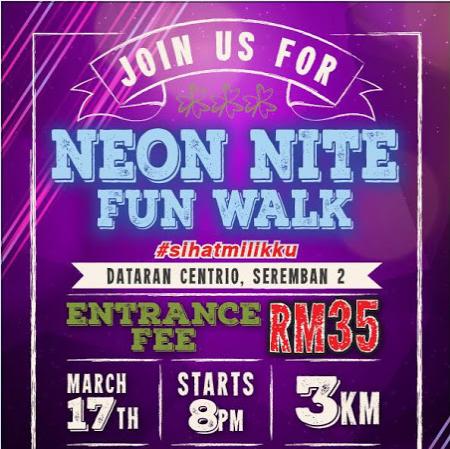 Neon Nite Fun Walk 2018